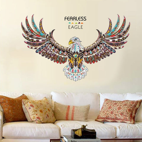 Fearless eagle wall stickers