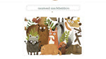 Forest Animals Elk Fox Rabbit Wall Sticker