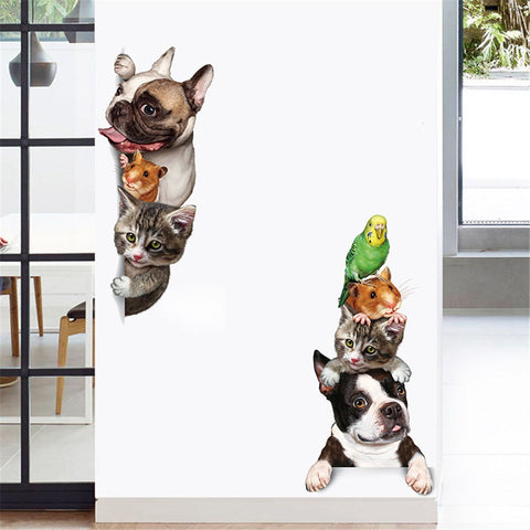 3D DIY Pet Family Home Wall Sticker Removable - Wall Stickers Inc