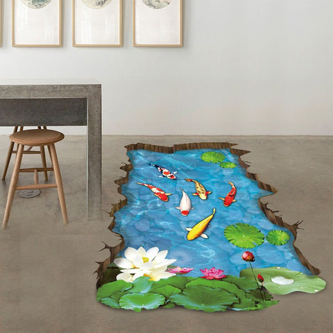 3D Stream Floor/Wall Sticker Removable - Wall Stickers Inc