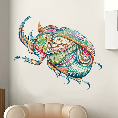 Colorful Insect Mural Home Decor Hexapod 3D Wall Sticker