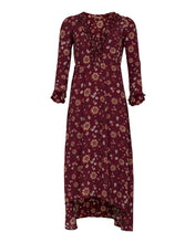 Load image into Gallery viewer, Mila long dress - Burnt red flower print