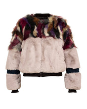 Load image into Gallery viewer, Tina Faux fur patch bomber