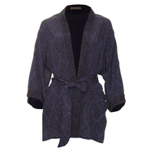 Load image into Gallery viewer, Odel kimono jacket navy print