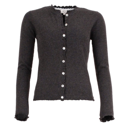 Lill - off-black cashmere cardigan