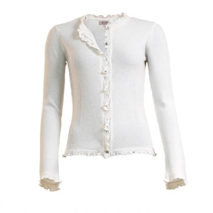 Lill - Winter White Cashmere Cardigan