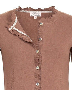 Lill - Taupe cashmere cardigan