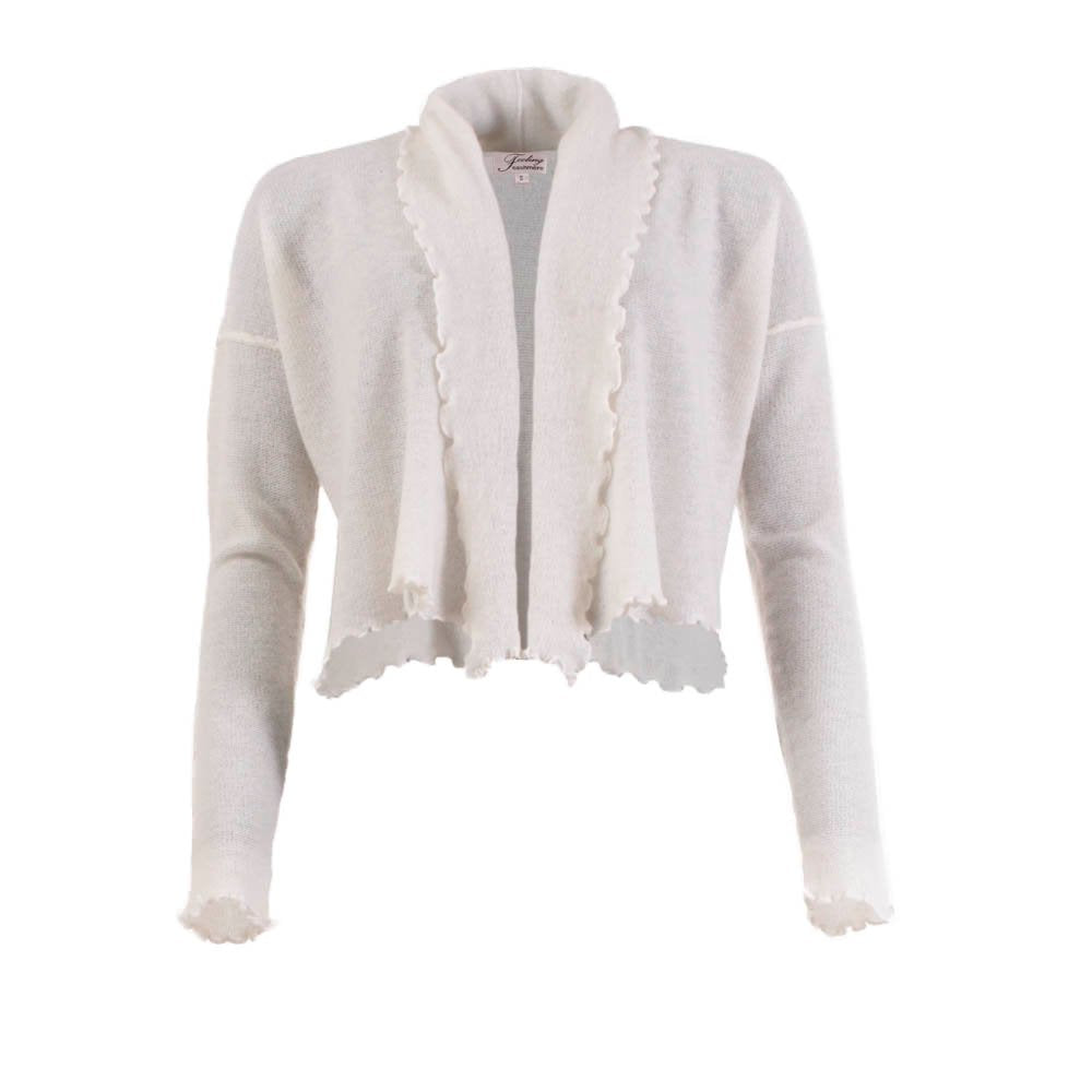 Mejse - Winter white cashmere cardigan