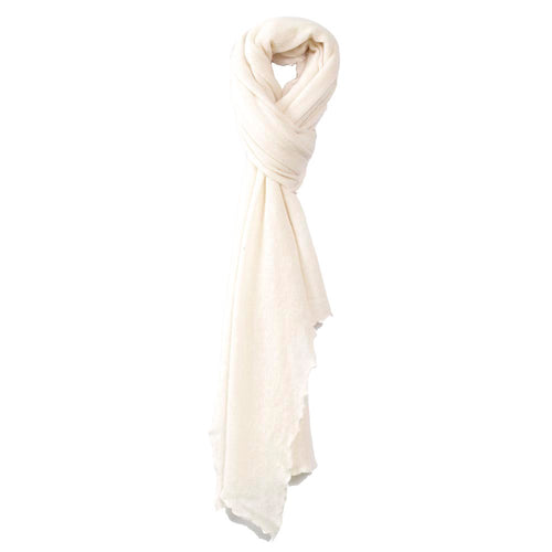 Cuddle - Winter White Cashmere Scarf