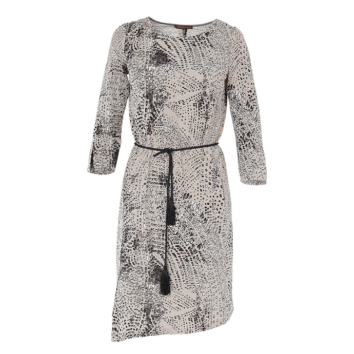 Gina dress Grey spotted print