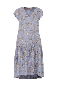 Maria midi long dress, blue sky