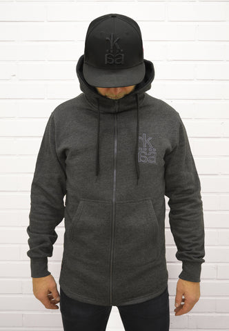 Zip hoodie long for men. Numbered from 1-100