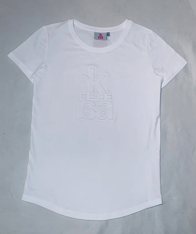 NEW! 50 pce embossed t-shirt long for ladies