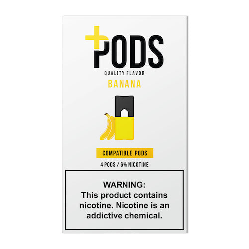 Plus Pods Banana 6% JUUL® Compatible 5 Pack