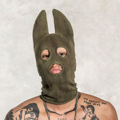 green adult bat mask