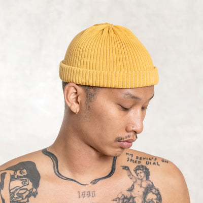 yellow orange beanie