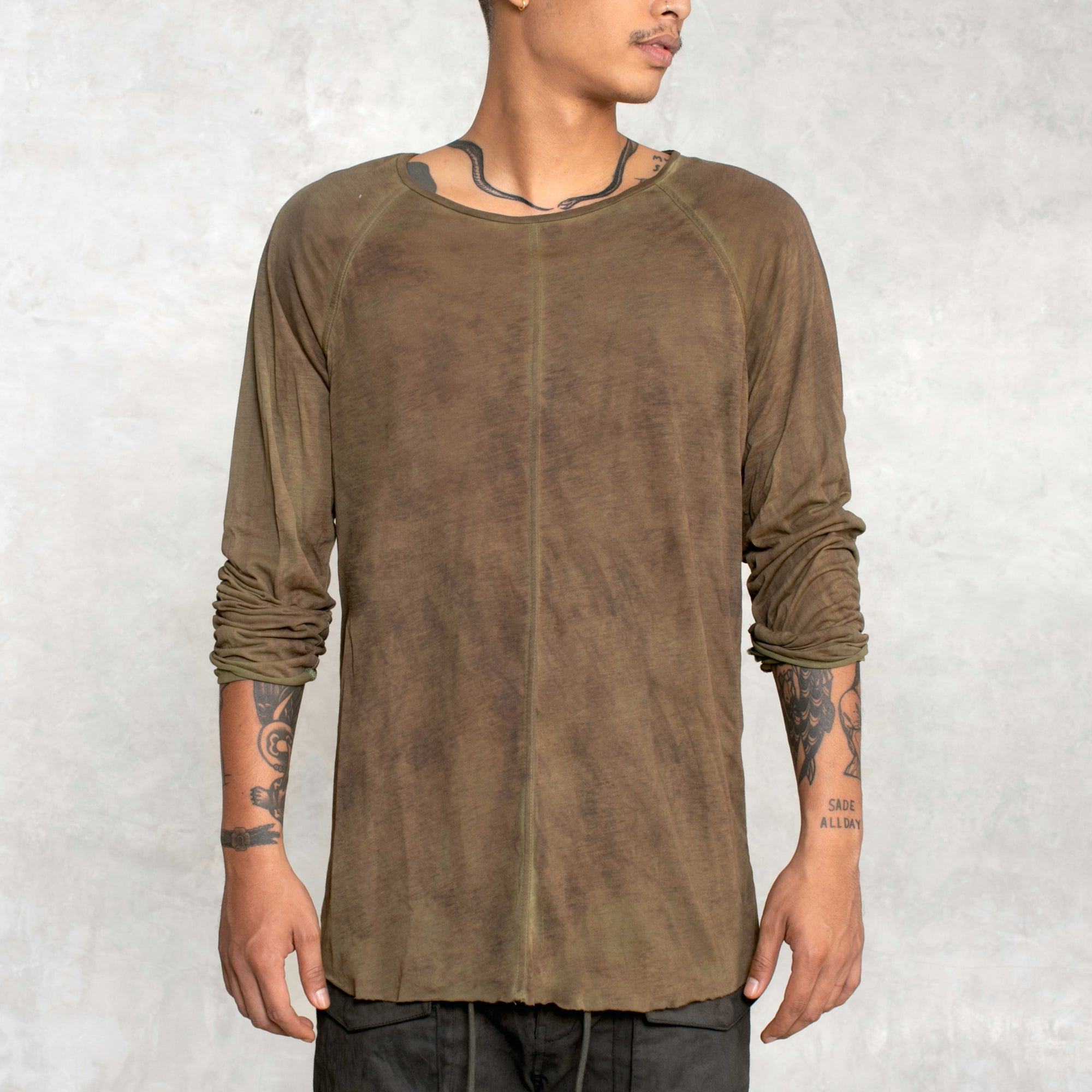 Channel Long Sleeve - Painted Olive