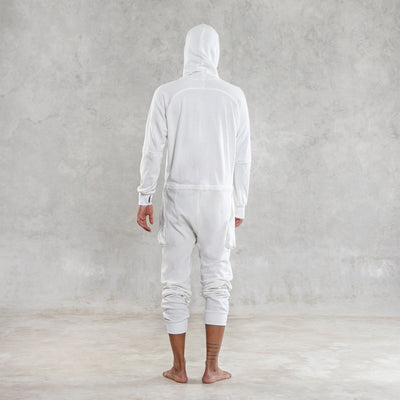 Cloud Terry Jumpsuit - White