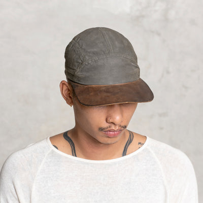 men's olive and walnut hat