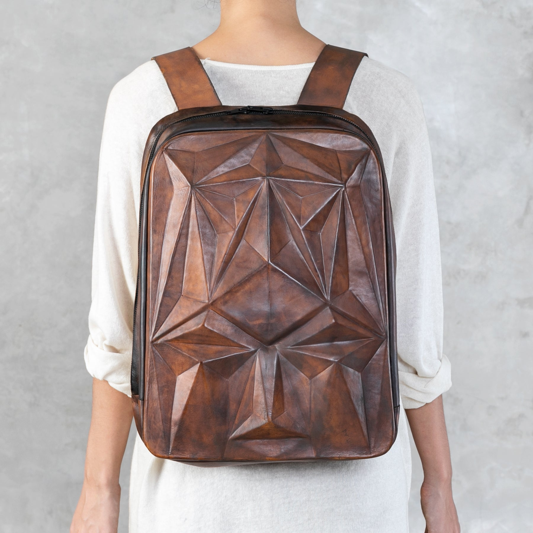 Facet Backpack - Walnut