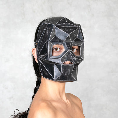 black leather mask