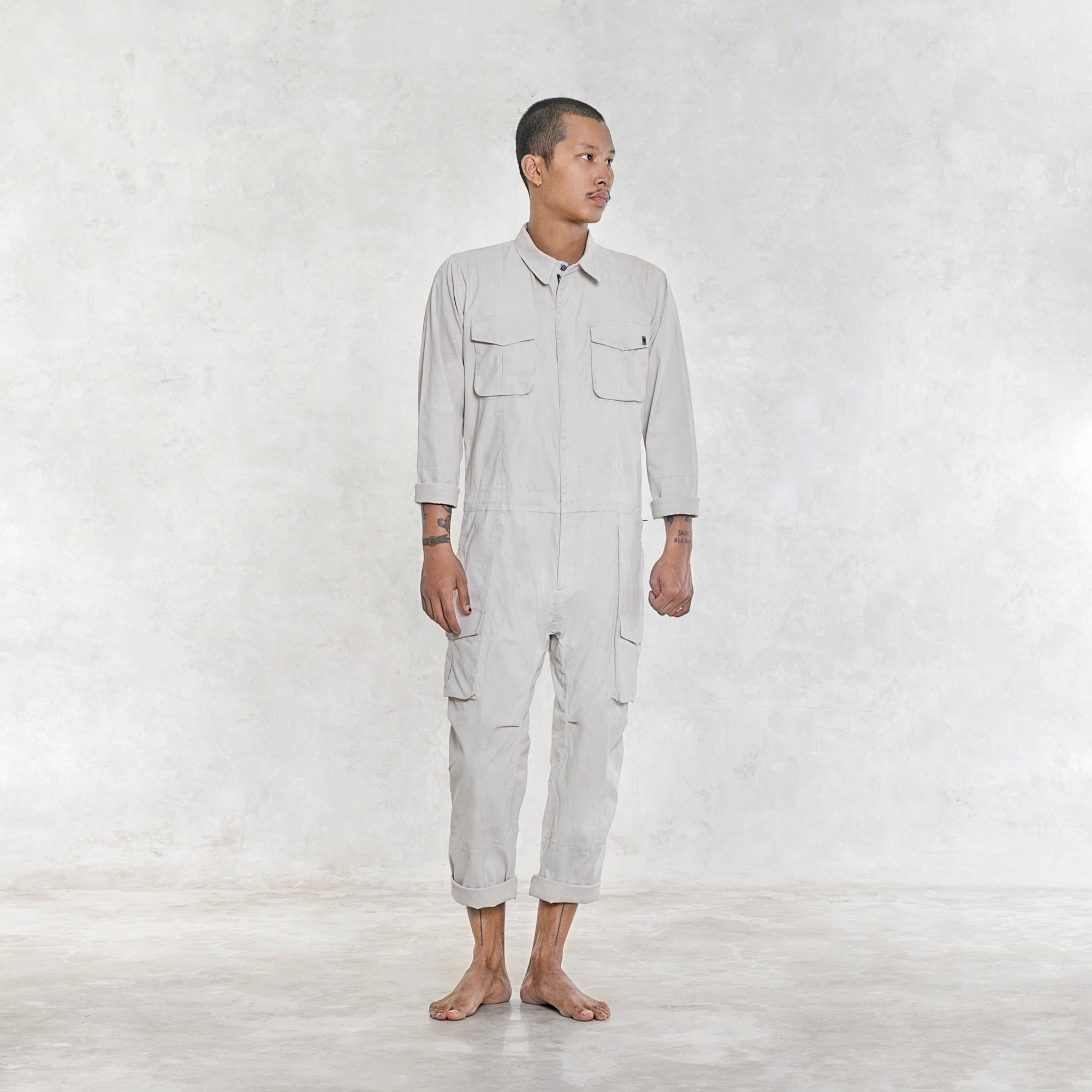 Gordon Work Jumpsuit - Bone