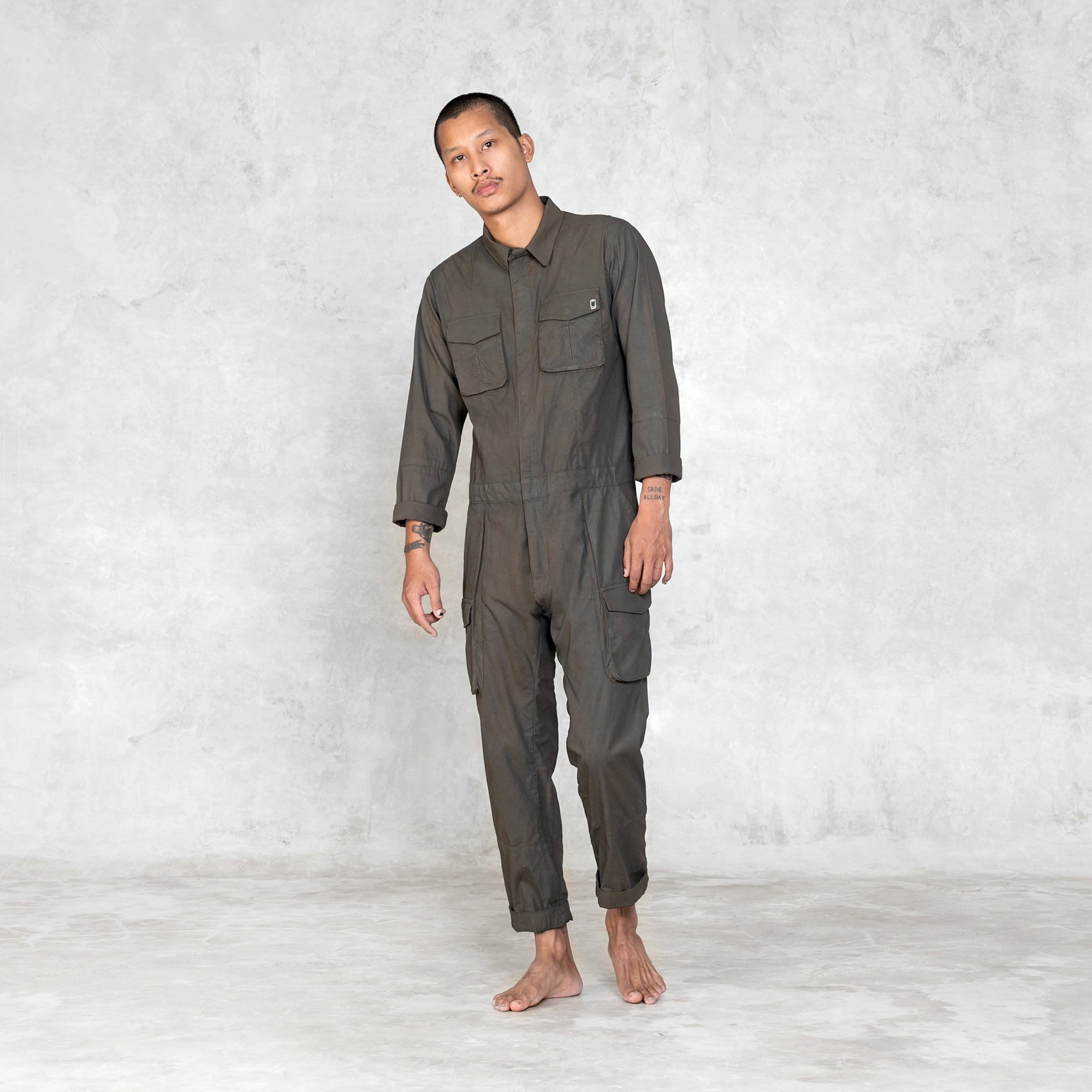 Gordon Work Jumpsuit - Olive