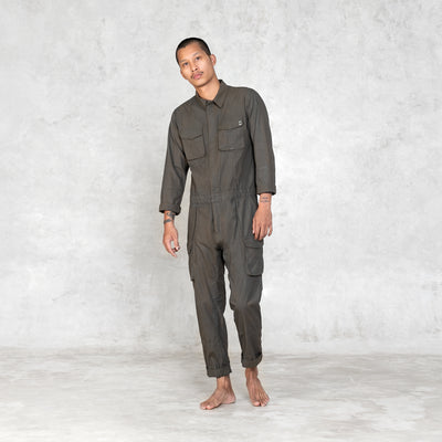 mens olive jumpsuit