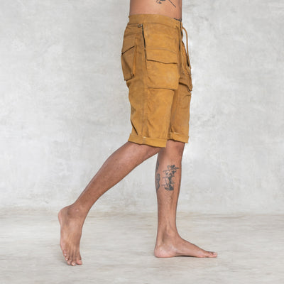 mustard yellow shorts