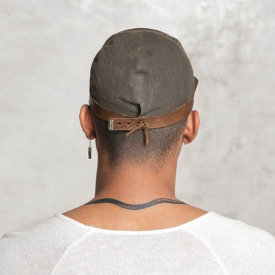 Ridged Cap - Olive/Walnut
