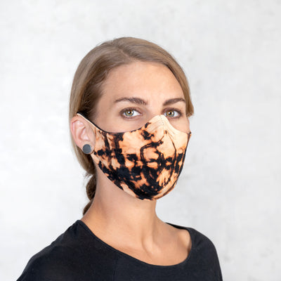 VROOM Mask - Rust Tie Dyed