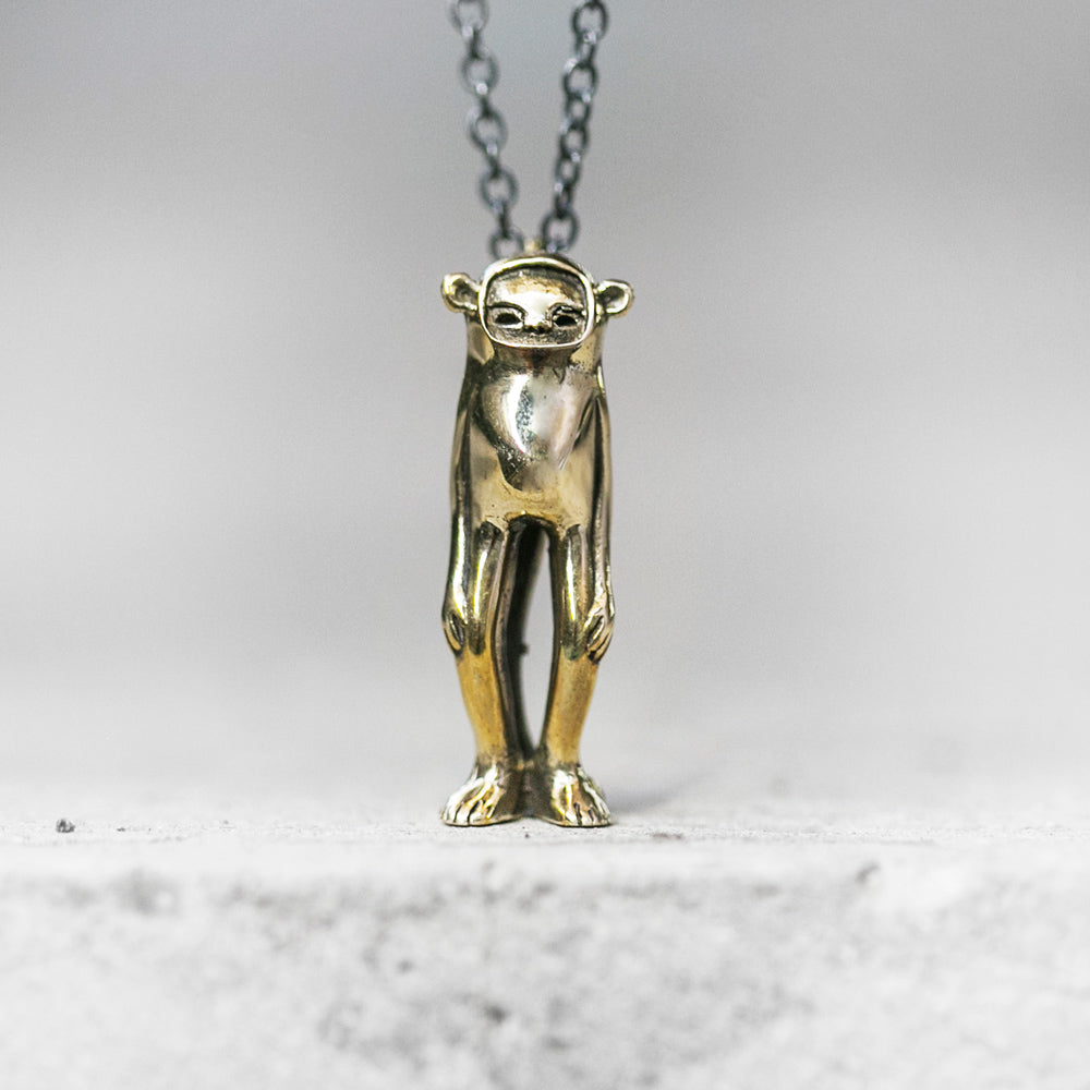 Minky Monkey Necklace