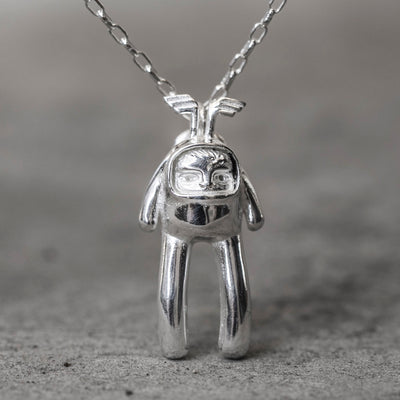 Rice Baby Silver Necklace