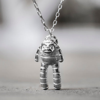 Bandit Silver Monkey Pendant Necklace
