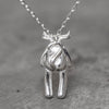Skully Babes Silver Necklace