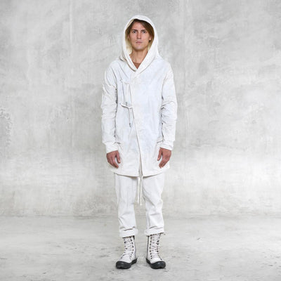 white hoody jacket