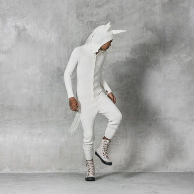 Unicorn Onesie - White