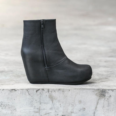 Black Wedge Boot