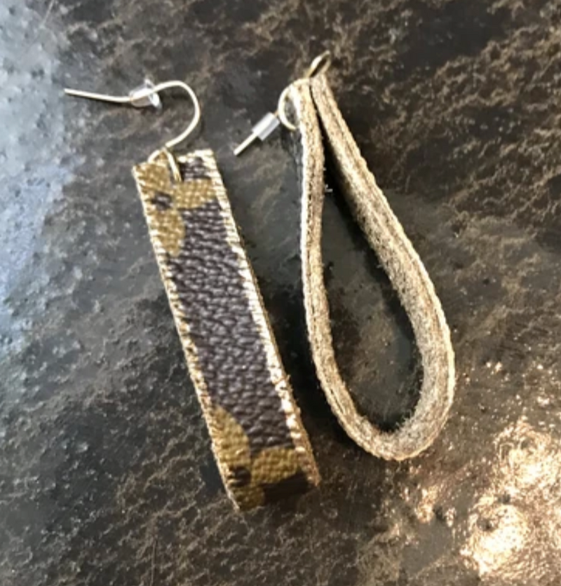 LV Upcycled Loop Earrings - Gigi's & Doc's