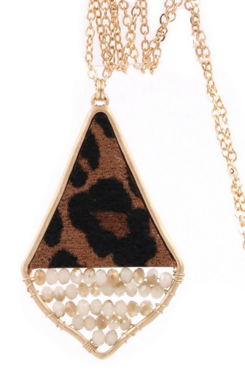 Leopard Sparkle Necklace
