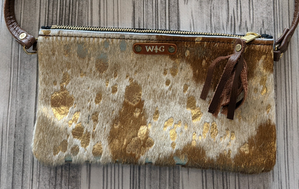 Gold Foil Mini Crossbody