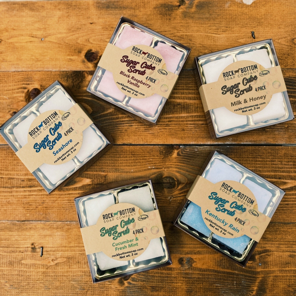 Sugar Cube Scrub - 4 Pack