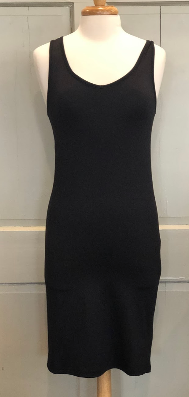 Simply Noelle Body Esteem Black Reversible Slip Dress - Gigi's & Doc's