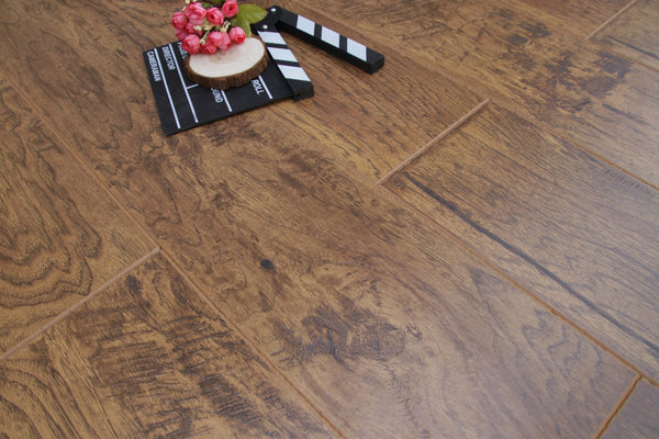 12mm Carolina Hickory 80 Hours Water Resistant Laminate EIR 80H06