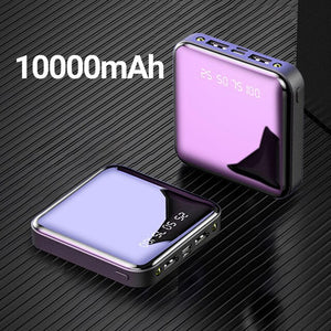 20000mAh Mini Power Bank For Xiaomi 10000 mah Portable Charger LED Mirror Back Power Bank External Battery Pack  USB Powerbank