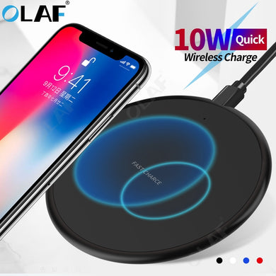 Wireless Charging Pad Receiver For iPhone 11 Pro MAX X 8 Plus Samsung S10 S9 Plus