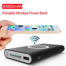 Load image into Gallery viewer, 30000mAh Qi Wireless Charger Power Bank For IPhone X 8 Plus Samsung Note 8 Fast Charger Portable Powerbank Mobile Phone Charger