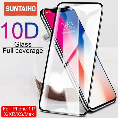 10D protective glass for iPhone X XS 6 6S 7 8 plus glass screen protector for iPhone 11 ProMAX XR SE2 screen protection