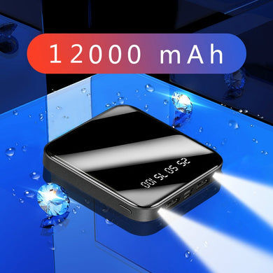 Mini Power Bank 12000mAh Portable Fast Charging PowerBank 12000 Dual USB PoverBank External Battery Charger