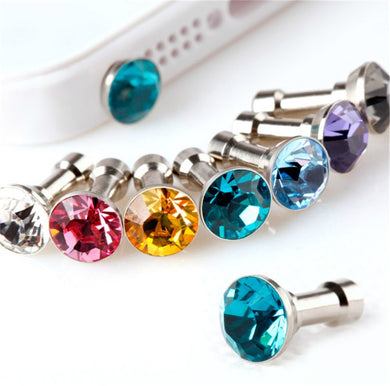 10pcs Bling Diamond Dust Plug Universal 3.5mm